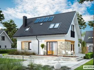 Projekt Witek - mały dom, wielkie wrażenie! Nowoczesne domy od Pracownia Projektowa ARCHIPELAG Nowoczesny