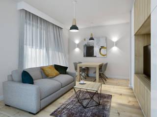 Salon & Jadalnia / Living Room & Dining Room: styl , w kategorii Salon zaprojektowany przez DOT STUDIO Agnieszka Żakowska-Nowak