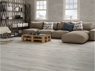 Verde y Madera Floors Ceramic Beige