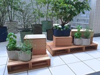 大田区のテラスガーデン Shikinowa Design モダンな庭