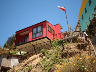 Vivienda Suarez Arq2g Casas estilo moderno: ideas, arquitectura e imágenes Rojo