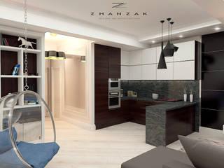 Дизайн квартиры ЖК Арман де люкс: Гостиная в . Автор – ESKANDER ZHANZAK