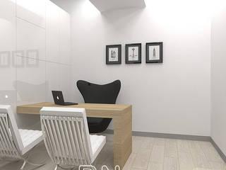 Willa Ustroń: styl , w kategorii Domowe biuro i gabinet zaprojektowany przez BN STUDIO Barbara Wójcik,