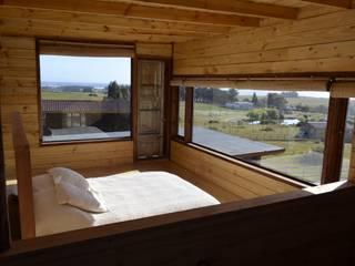 BLAC arquitectos Rustic style bedroom Wood Wood effect