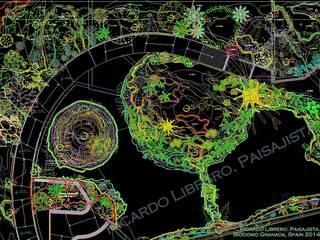 Detalle del plano de Planta y Curvas de Nivel.: Museos de estilo  de GreenerLand. Arquitectura Paisajista y Tematización