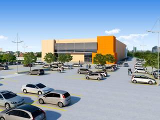 Comercial Ourinhos/SP: Espaços comerciais  por Santos e Delgado Arquitetura e Construções