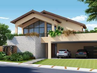 Residencial Bauru/SP_A1: Casas  por Santos e Delgado Arquitetura e Construções