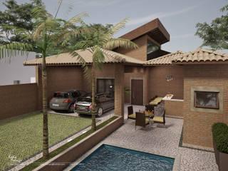 Residencial Bauru/SP: Casas  por Santos e Delgado Arquitetura e Construções