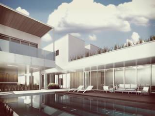 Estudio Volante Casas de estilo minimalista Blanco