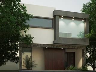 FACHADA PRINCIPAL: Casas de estilo moderno por EKA ARQUITECTURA