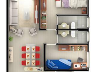 Residencial Botucatu/SP:   por Santos e Delgado Arquitetura e Construções