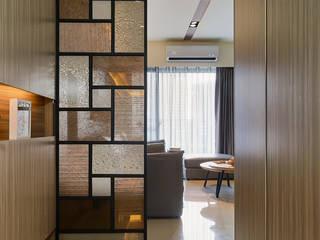 鄉鄰靜安-陳公舘 現代風玄關、走廊與階梯 根據 青瓷設計工程有限公司 現代風