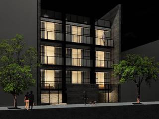 Fachada Principal: Casas de estilo  por VOLEVA arquitectos