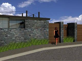 Acceso: Casas de estilo  por VOLEVA arquitectos