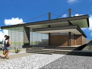Acceso Principal: Casas de estilo  por VOLEVA arquitectos