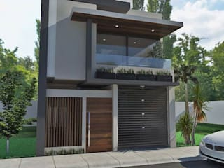 render del proyecto: Casas de estilo  por Crearqtiva