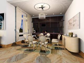 Piso de alto standing Madrid: Salones de estilo ecléctico de CADOT