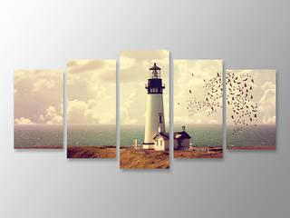 Özgün Dekor – 5 Parçalı Kanvas Tablo Deniz Feneri:  tarz