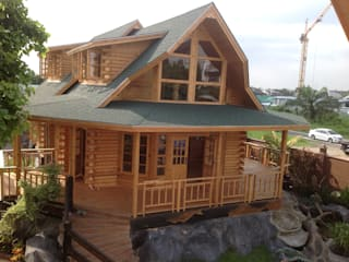 Sukjai Logcabin Partnership Eclectic style office buildings Solid Wood Wood effect