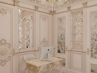 5 квадратных метров Барокко: Рабочие кабинеты в . Автор – Дизайнер интерьера Екатерина Семыкина, Классический