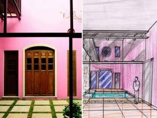 Proyecto casa calle 70 x 51 Barrio de Santiago Maya Arquitectura Construccion Casas modernas