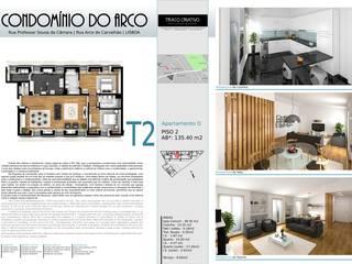 Condominio habitacional:   por Traço Criativo, Arquitetura, Planeamento e Design, Lda