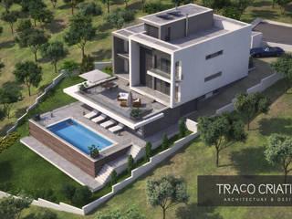 Moradia Unifamiliar - Famões - Odivelas: Casas modernas por Traço Criativo, Arquitetura, Planeamento e Design, Lda