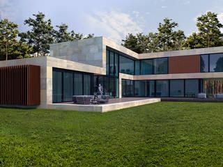 Дом в Подмосковье (485м2) Дома в стиле минимализм от ALEXANDER ZHIDKOV ARCHITECT Минимализм