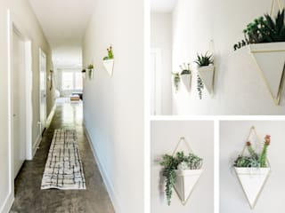 Urban Retreat:  Corridor & hallway by Brett Nicole Interiors