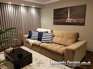 Sala de TV ampla e reformada:   por Fernando Parreira Arquitetura