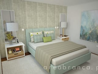 Suite: Quartos  por Areabranca,Moderno