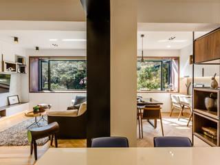 爾聲空間設計有限公司 Modern living room Wood Wood effect