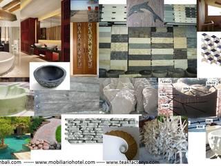 Paredes y pisos de estilo ecléctico de comprar en bali Ecléctico