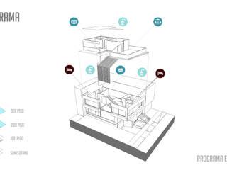 Vivienda unifamiliar-privada:  de estilo  por Le.tengo Arquitectos