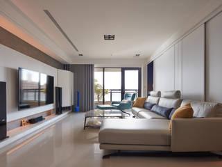 Livings de estilo moderno de 合觀設計 Moderno