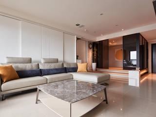 Salas de estilo moderno de 合觀設計 Moderno