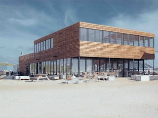 Beachsportpaviljoen, Scheveningen:  Bars & clubs door Architectenbureau Filip Mens