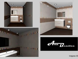 Casas de banho  por Ana Benítez Estudio de Interiorismo