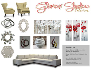 Decor Ornaments:   by Glamour Shadow Interiors (Pty) Ltd