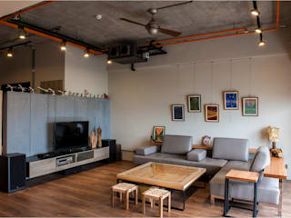 木皆空間設計 Salas de estilo industrial