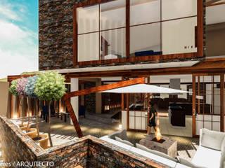 Modern garden by FRANCO CACERES / Arquitectos & Asociados Modern