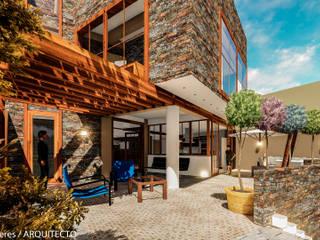 Modern balcony, veranda & terrace by FRANCO CACERES / Arquitectos & Asociados Modern
