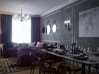 50 оттенков серого: Гостиная в . Автор – eugene-design.com