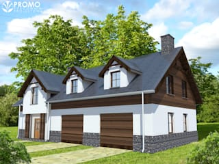 Rustic style house by PROMO Pracownia Projektowa Rustic