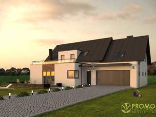 IMU0003: styl , w kategorii Domy zaprojektowany przez PROMO Pracownia Projektowa