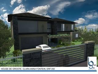 HOUSE DE GROOTE - Clara Anna Fontein, Durbanville:   by BLUE SKY Architecture,