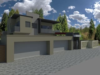 HOUSE CORNELIUS - Baronetcy Estate, Plattekloof:   by BLUE SKY Architecture,