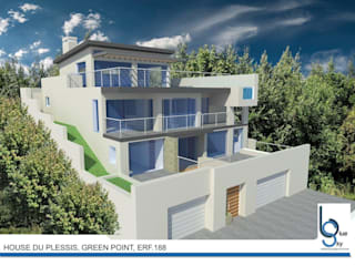 HOUSE DU PLESSIS - GREEN POINT, CAPE TOWN:   by BLUE SKY Architecture,