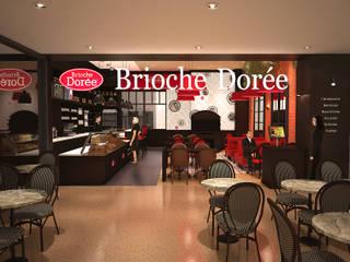 Brioche Dorée – Le caire – City Star 2nd Floor - 2016 par Contraste Intérieur Moderne