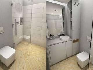 Męska łazienka - Gdańsk Południe Minimalistyczna łazienka od Pracownia Projektowa MOJE Minimalistyczny